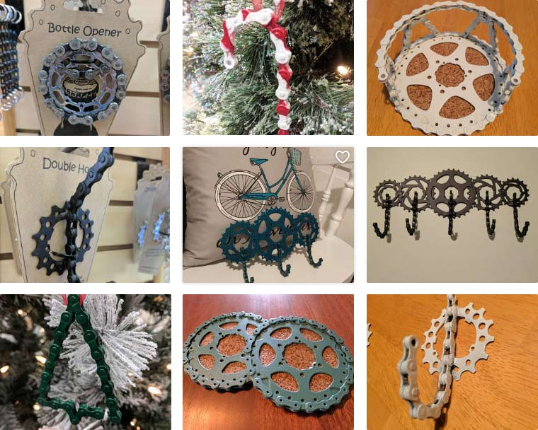 Bicycle Parts Art Artisans Of Easton Lehigh Valley Pa