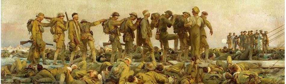John Singer Sargent - Gassed, 1918 - Oil on canvas - (on display at Imperial War Museum, London, UK) in the Hunterdon County, NJ area